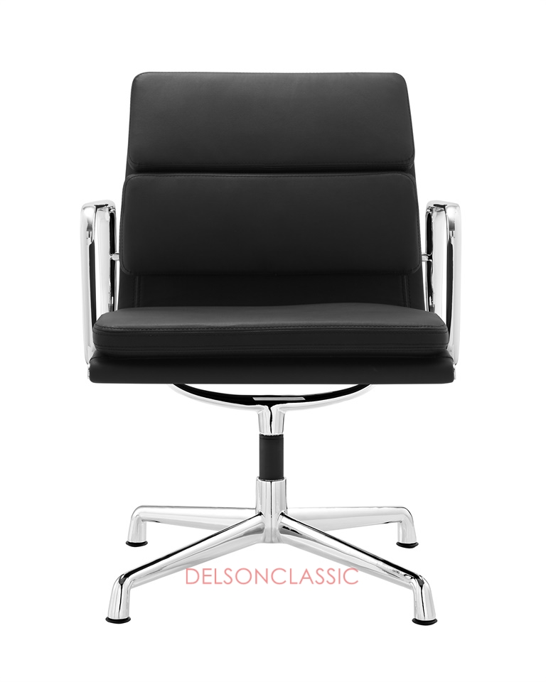 Charles Eames Low Back Soft Pad Executive Chair Black Leather DS387
