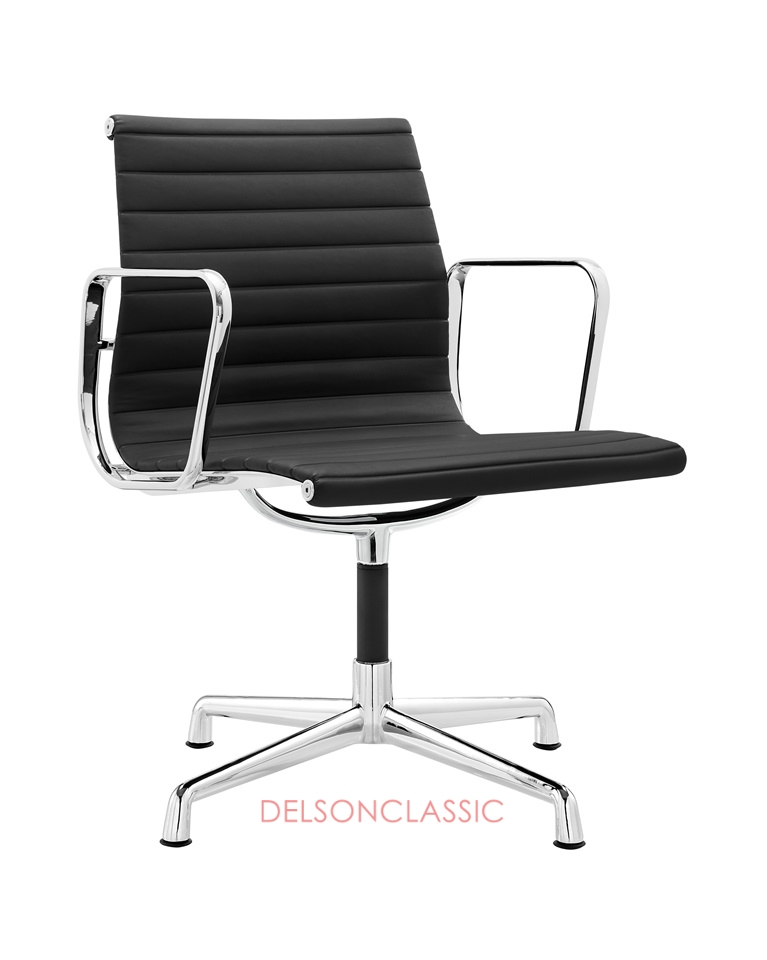 Charles Eames Executive Office Chair Black Leather DS381