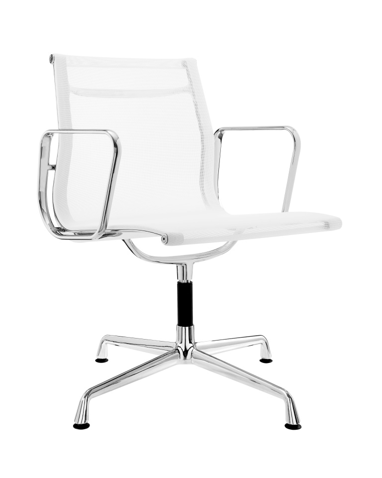 Charles Eames Aluminum Low Back Executive Office Chair White Mesh DS389F