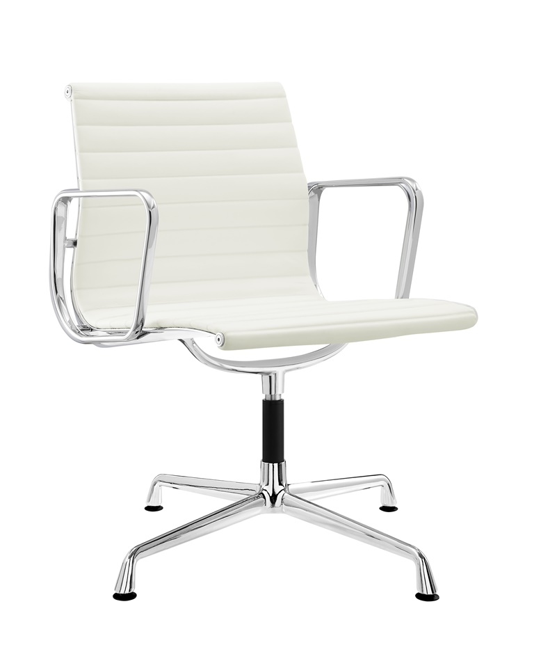 Charles Eames Executive Office Chair White Leather DS381