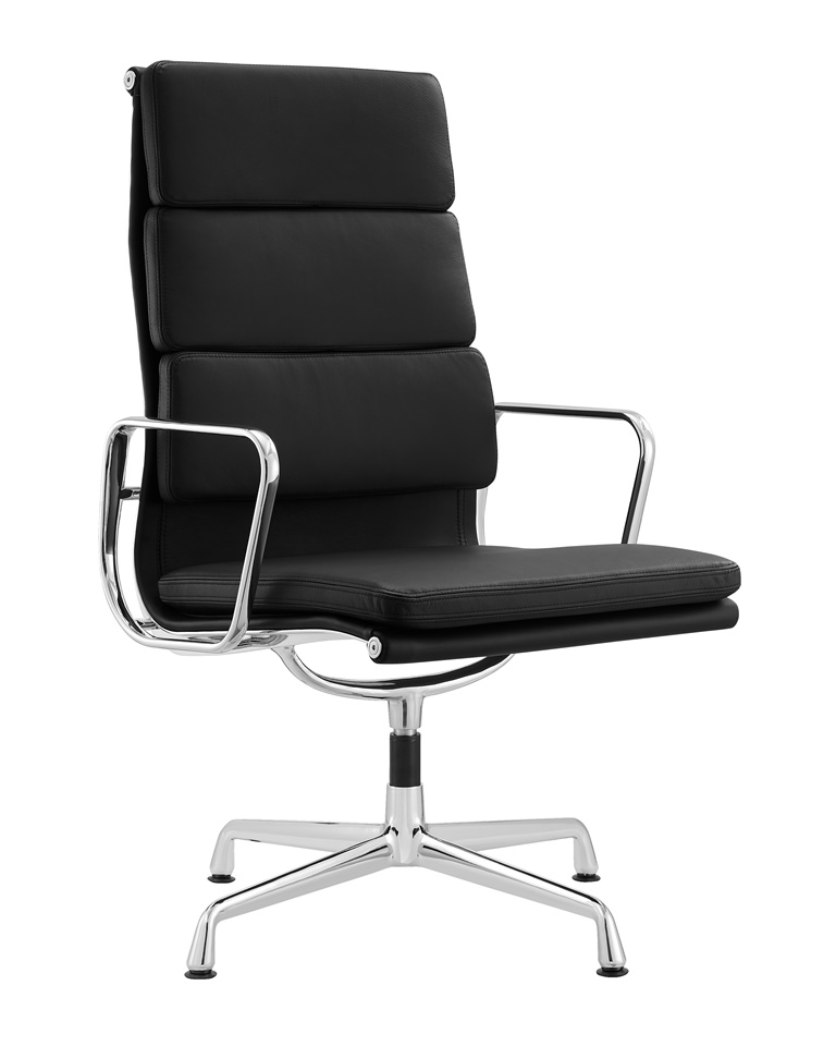 Charles Eames High Back Soft Pad Executive Chair Black Leather DS385