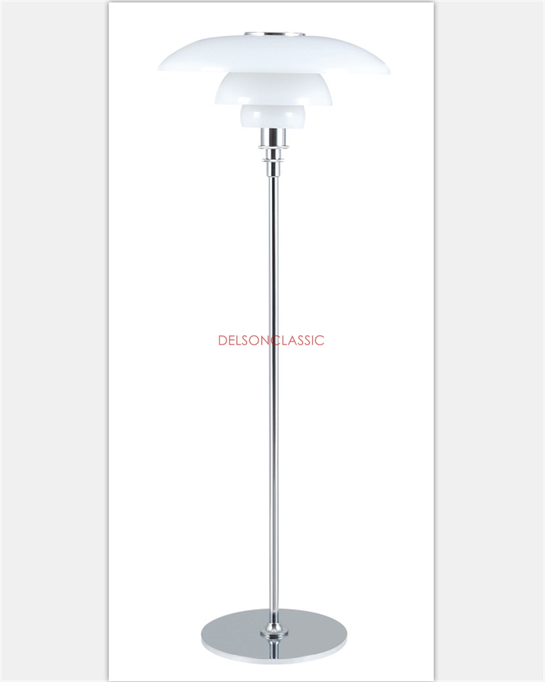PH 4½-3½ GLASS FLOOR LAMP DL038
