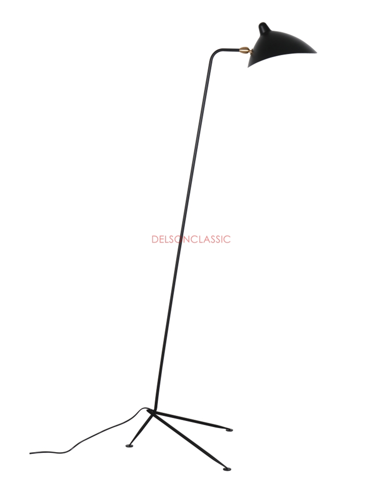 Serge Mouille One-Arm Floor Lamp DL010