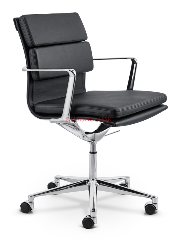 Mid-back Office Chair Soft Padded Leather DS393